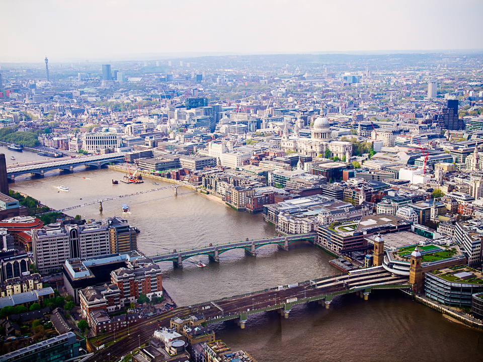 View from the Shard, London. Photography by Ghene Snowdon