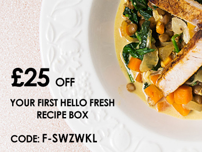 Hello Fresh £25 Discount Voucher