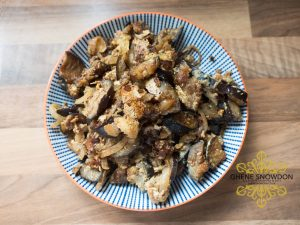 Sauteed Aubergine with egg