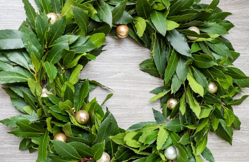 Bay Christmas Wreath